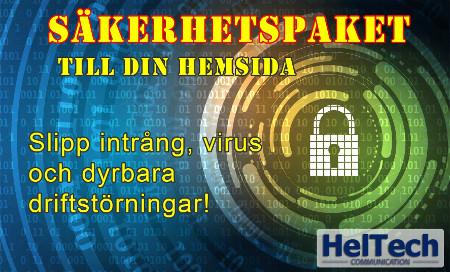 Säkerhetspaket till din hemsida!